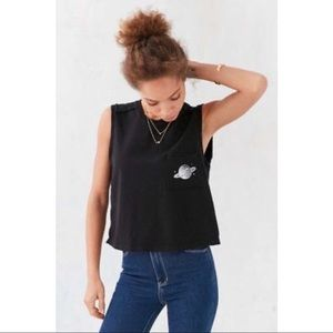 Urban Outfitters planet crop muscle tee